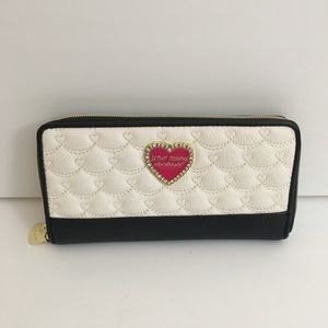 Betsey Johnson Quilted Zip Around Wallet